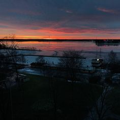 Not much sun this time of year in Finland. But when you do get it it's still spectacular. #Finland #vaasa