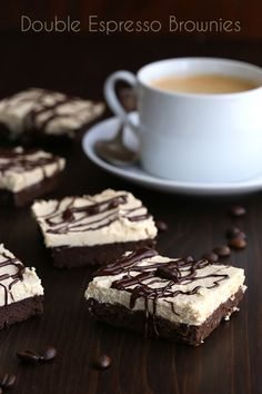 Low Carb Grain Free Espresso Brownies with Espresso Buttercream