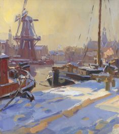 Graffiti Workshop, Le Moulin, Windmill, Old And New, Winter Wonderland, Netherlands, Holland, Dutch, Fine Art