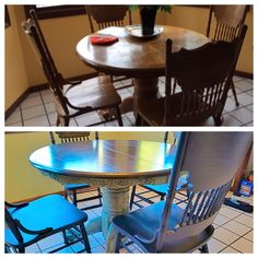 Breakfast Nook Table & Chairs - Painted