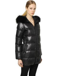 a930a5fd50c56 KAPPADUE SHINY NYLON DOWN JACKET W  FUR Down Coat
