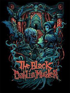 The Black Dahlia Murder (Dan Mumford) Death Metal, Dan Mumford, The Black Dahlia Murder, Arte Black, Rock Poster, Metal T Shirts, Extreme Metal, Metal Albums, Heavy Metal Music