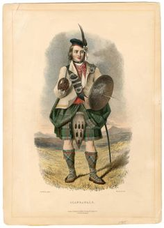 Clans of the Scottish Highlands 1847 Plates 1-54, Plate 005 :: Costume Institute Fashion Plates