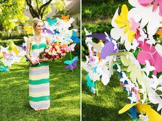 Rainbow Wedding. Whimsical Garden Party Wedding Inspiration