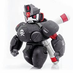Nano TEQ Nutbuster OG black and Ghost white Edition By Quiccs x Devil Toys Online Release 3d Figures, Vinyl Figures, Action Figures, Vinyl Toys, Vinyl Art, Robot Cute, Arte Robot, Cyberpunk Art, Toys Online