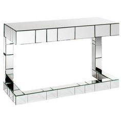 Bruelle Mirrored Desk With 1 Drawer
