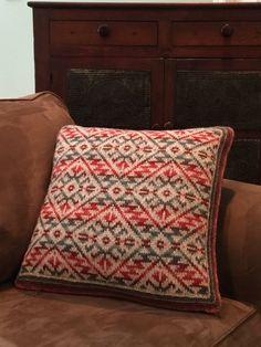 Fair Isle Catalina Highway Pillow in Jamieson's Shetland Spindrift yarn