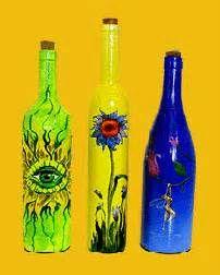 painted bottles - Bing Images