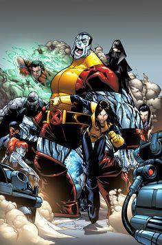 Colossus, Shadowcat and the New X-Men by Humberto Ramos