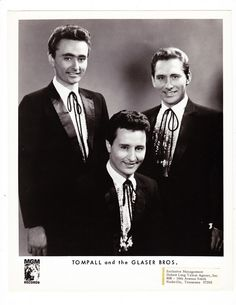 TOPALL AND THE GLASER BROS GRAND OLE OPRY GLOSSY PHOTOGRAPH | eBay