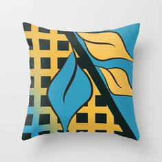Leaves 02 Throw Pillow cover by Ramon Martinez Jr - $20.00
