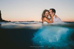 Post boda acuática en Lanzarote, playa de papagayo.