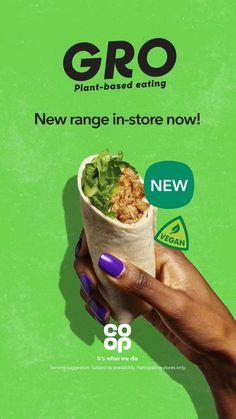 Grab our new Gro Hoisin Du'k wrap for a plant-based lunch with a hoisin crunch 🌱 Restaurant Advertising, Restaurant Marketing, Food Advertising, Food Menu Design, Graphic Design Tools, Plant Based Recipes, Vegetable Recipes, Interactive Web Design, Bip Bip