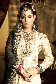 Indian Fashion- Cream with an Edge!   Fashion by Soma Sengupta
