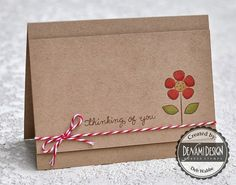 DeNami Kraft Thinking of You card Scrapbooking, Scrapbook Pages, Handmade Scrapbook, Get Well Cards, Card Sketches, Flower Cards, Creative Cards, Your Cards, Cardmaking