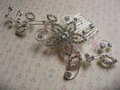Hey, I found this really awesome Etsy listing at https://www.etsy.com/listing/160276825/hair-comb-wedding-hair-comb-flower-girl