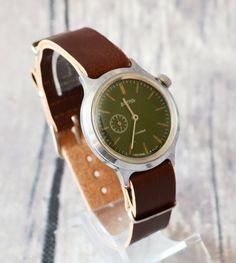 Men's Vintage Watch 1970s USSR Wostok Rare Soviet by bestLuba
