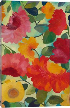 Love Flowers I by Kim Parker Canvas Wall Art
