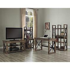 Altra Wildwood Wood Veneer Desk