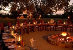 Jackalberry Lodge - Evening boma dinners