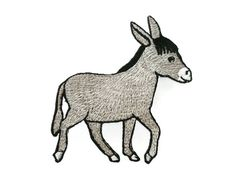 Hey, I found this really awesome Etsy listing at https://www.etsy.com/listing/399658755/donkey-embroidered-applique-iron-on
