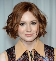 The Hottest Bob Haircuts of the Moment: Karen Gillan