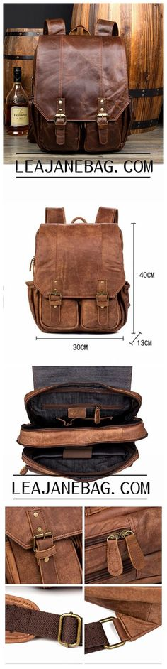 First Layer Leather Backpack, Travel Backpack, Handmade Backpack MS037