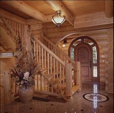 14 Best Cool Log Home Staircases Railing Images In 2019 Log