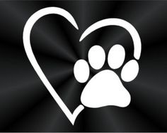 Paw Print Decal, Puppy Print, Dog Print, Pet Adoption, Heart, Cute, Popular, Truck, Wall, Laptop, Car, Window Vinyl Decal, Sticker 10519