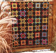 Squares in Stars Flannel Quilt by HartfordAvenueQuilts on Etsy