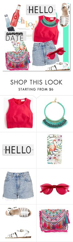"""Summer Date: The Beach"" by nastya-d ❤ liked on Polyvore featuring J.Crew, BaubleBar, Rosanna, Casetify, Topshop, Chicnova Fashion, Billini, Monsoon, beach and summerdate"