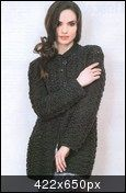 Black Jacket free crochet graph pattern