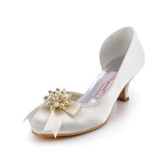 Satin Upper Mid Heel Wedding Shoes with Pearls and Crystal Adorned Bowknot Shoes Size:34/35/36/37/38/39/40/41/42Shoes Color:White/Ivory/Champagne/Gold/Pink/Red/Burgundy/Purple/Royal Blue/Silver/BlackOn Sale:YESFeatures:PumpsOccasion:Wedding/Special OccasionSeason:Spring/FallToe Type:Close Toes/Round…