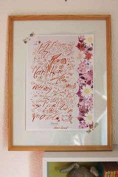 How to make a calligraphic decor for the kids room using (unused) stationery paper by Mammabook
