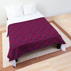 """Untitled"" Comforter by ManenDesign College Dorm Bedding, College Dorm Rooms, Floral Comforter, Red Mini Skirt, Make Your Bed, Dark Forest, Square Quilt, Quilt Patterns, Comforters"