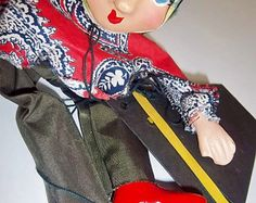 """Antique Hippie Girl Marionette Circa 1940s $52.00 
