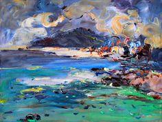 "Saatchi Online Artist: Art Trouve Inc; Oil, 2012, Painting ""Seaside impression-No.2"""