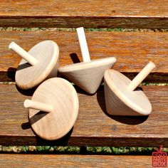Wooden Spinning Tops - Party Favours | Eco Party Box