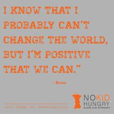 Get involved with No Kid Hungry today: http://www.nokidhungry.org/take-action/getting-started