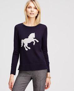 Ann Taylor Horse Sweater