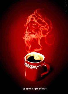 NESCAFÉ, coffee, advertising, idea, illustration, draw, creative, publicidad, creatividad, marca, brand, nestle, red, café, lifestyle, ads, vintage, instant coffee.