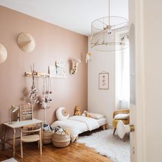 - lit Mum and Dad Factory - chambre d'enfant Baby Bedroom, Baby Room Decor, Girls Bedroom, Bedroom Decor, Kids Room Design, Little Girl Rooms, Geometric Wall, Design Ideas, Wall Art