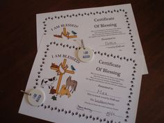 Blessing of the Animals certificate