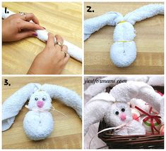 Conejitos de toalla fáciles de hacer