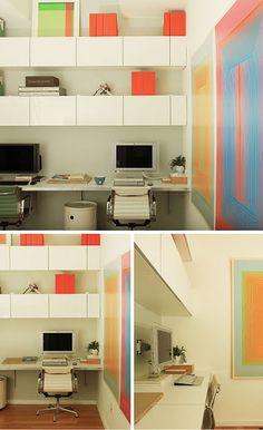 Ikea BESTA Hack, floating desk and built-ins