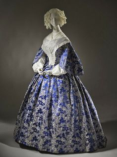 1855 dress via The Los Angeles County Museum of Art.