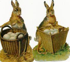 Victorian Scrap Easter Bunnies