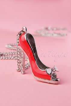 Darling Divine - Hello Red Shoes Bye Blues Silver Necklace