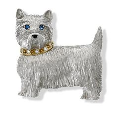 Sapphire Eyes, Blue Sapphire, Bling Dog Collars, Skeleton Clock, White Gold Jewelry, Gold Jewellery, Dog Jewelry, Cat Pin, Gold Brooches