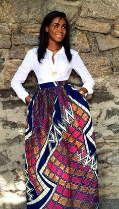 - 6 Ways To ROCK African Dresses & Prints - Sexy African Dresses for women in traditional & modern designs, wedding styles, plus sizes, unique Ankara. Elegant styles for p African Print Skirt, African Print Dresses, African Dresses For Women, African Wear, African Attire, African Prints, African Style, African Inspired Fashion, African Print Fashion